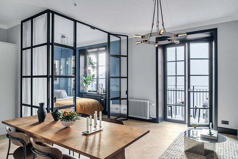 Small Apartment In Stockholm With A Bedroom Behind Glass 40 Sq M Tg Uk