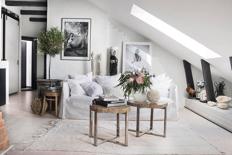 The attic apartment with the creative spirit in Stockholm - TG-UK